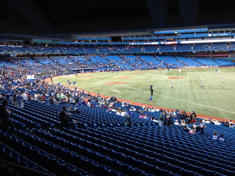 Seating view for Rogers Centre Section 112 Row SRO Seat Standing R
