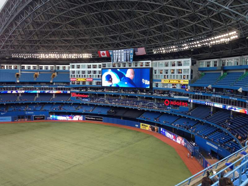 Seating view for Rogers Centre Section 514L Row 4 Seat 101