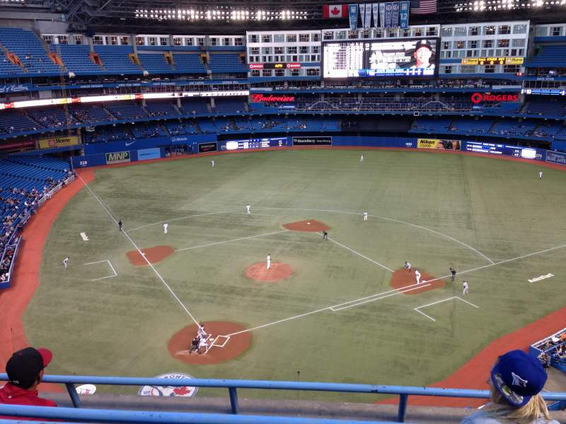 Seating view for Rogers Centre Section 523 Row 2 Seat 7