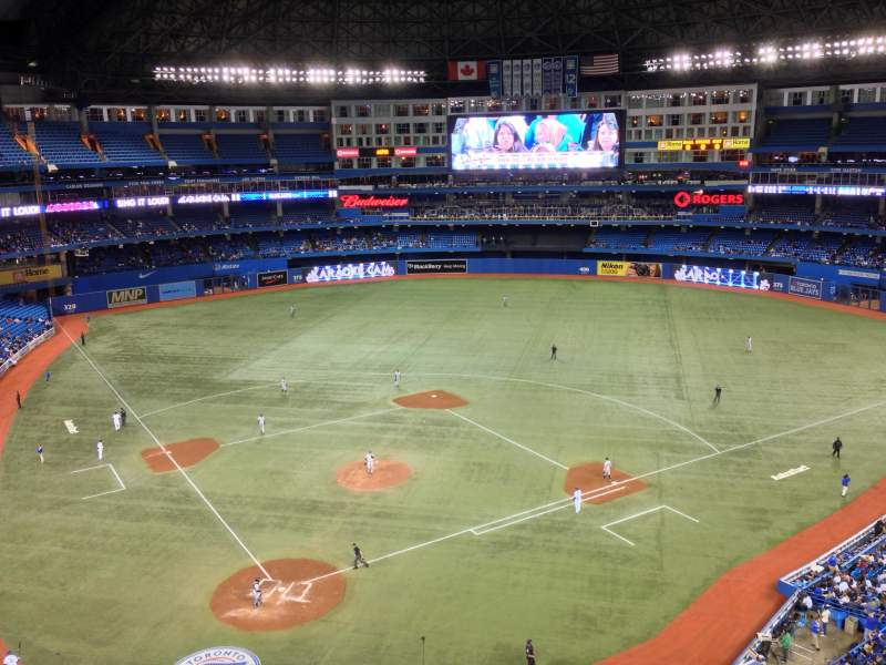 Seating view for Rogers Centre Section 521R Row 2 Seat 4