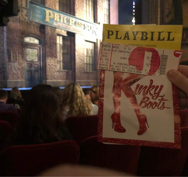 Seating view for Al Hirschfeld Theatre Section Orchestra L Row H Seat 17