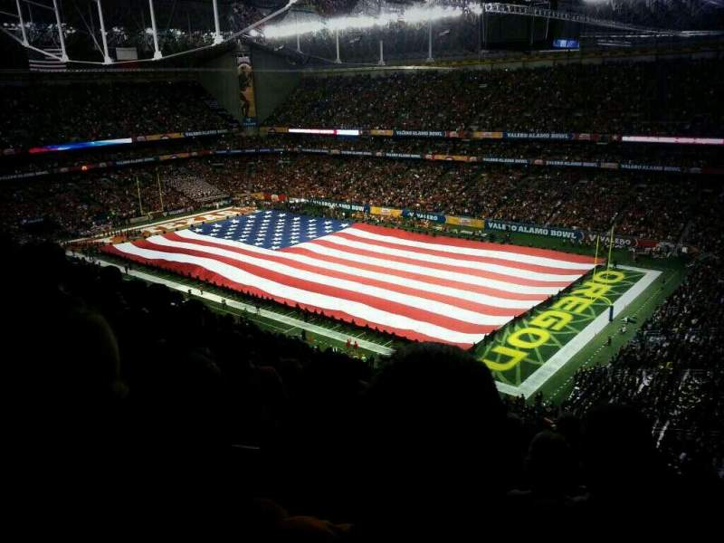Seating view for Alamodome