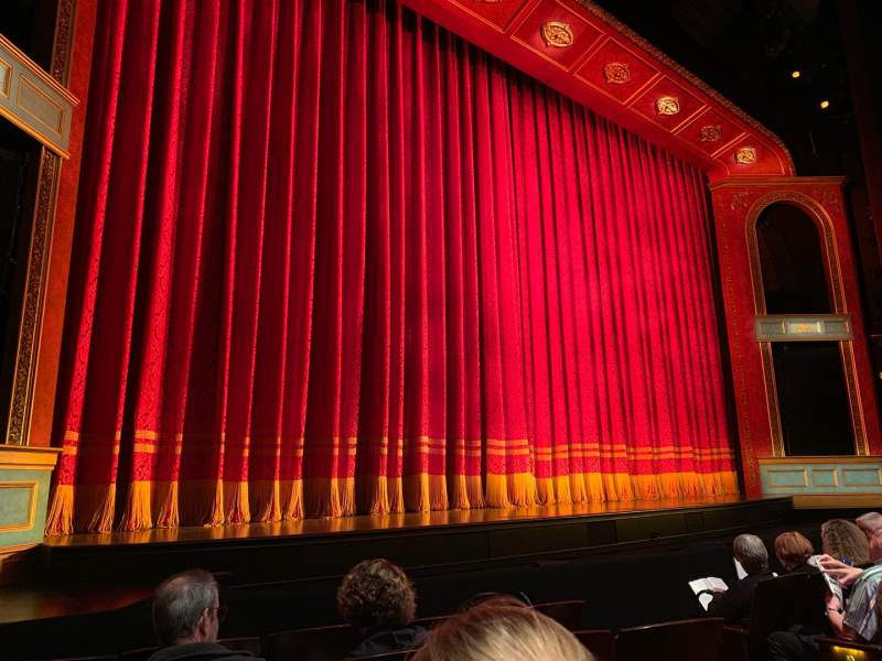 Seating view for Marquis Theatre Section Orch Left Row E Seat 9