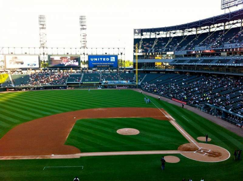 Seating view for Guaranteed Rate Field Section 338 Row 3 Seat 7