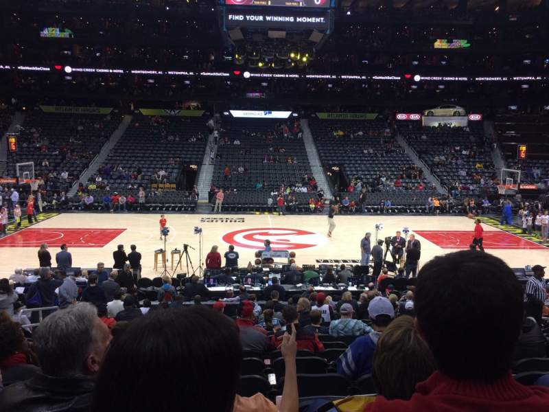 Seating view for Philips Arena Section 115 Row Q Seat 12