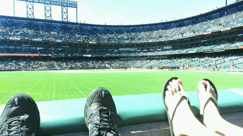 Seating view for AT&T Park Section b139 Row 1 Seat 14
