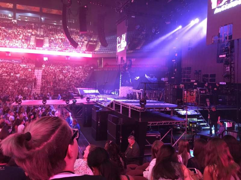 Seating view for Mohegan Sun Arena Section 14 Row J Seat 13