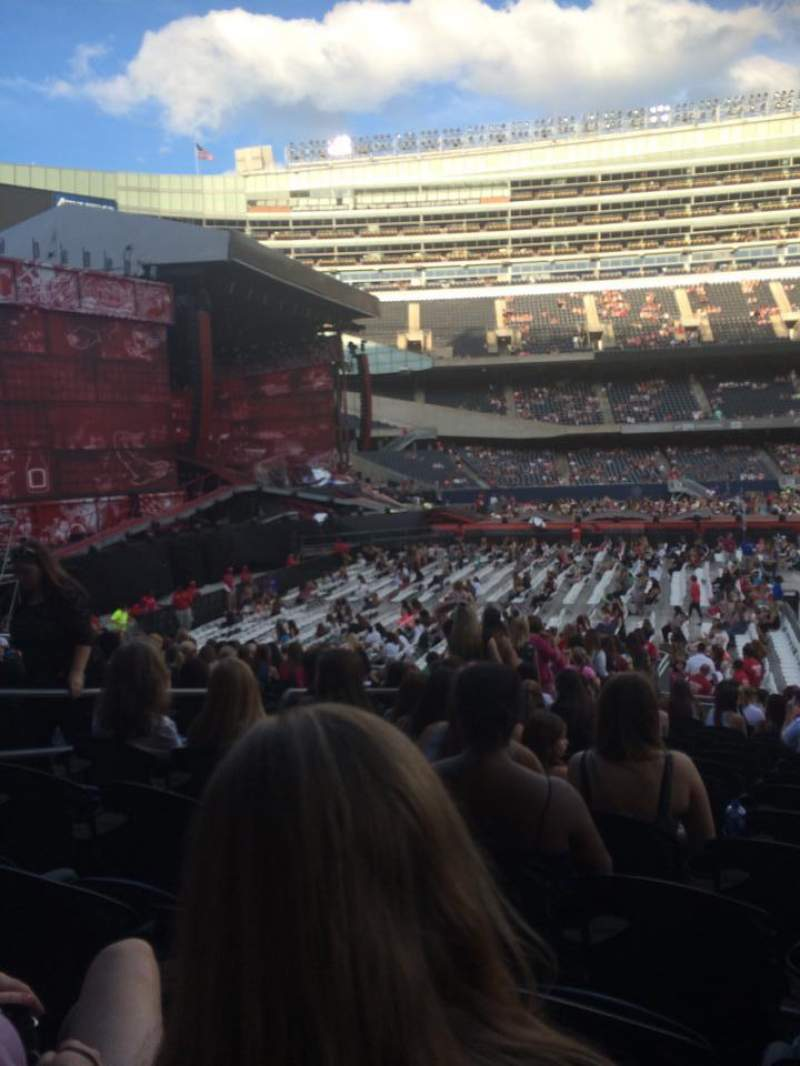 Seating view for Soldier Field Section 142 Row 19  Seat 10