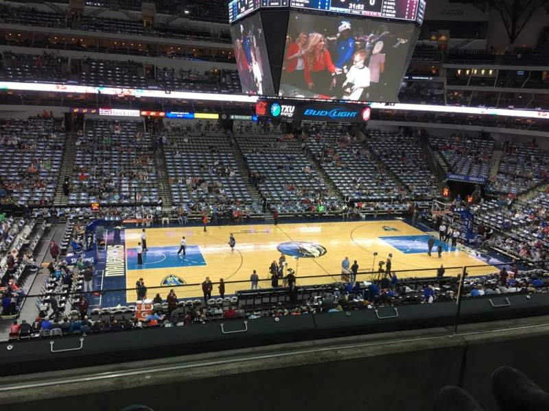 Seating view for American Airlines Center Section 219 Row B Seat 6