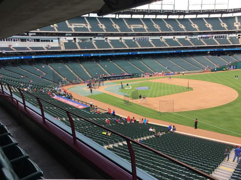 Seating view for Globe Life Park in Arlington Section Tris Speaker Suite 229B