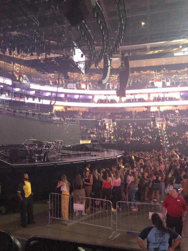Seating view for Wells Fargo Center Section 123 Row 7 Seat 13