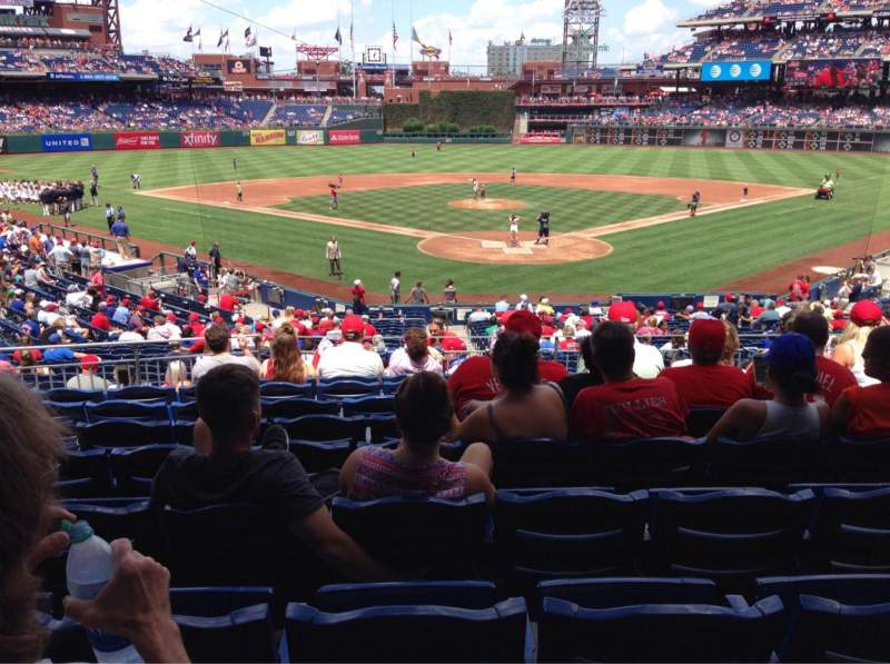 Seating view for Citizens Bank Park Section 124 Row 29 Seat 10