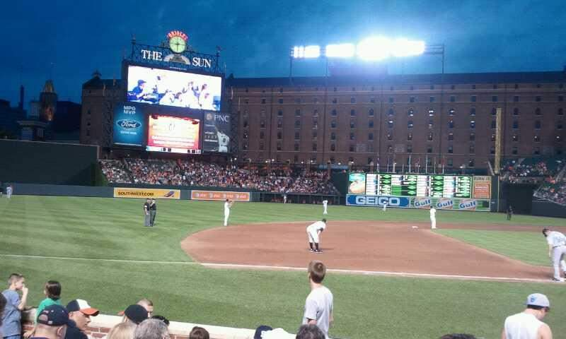 Seating view for Oriole Park at Camden Yards Section 56 Row 8 Seat 5