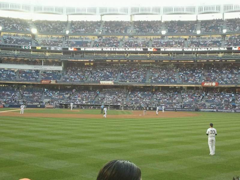 Seating view for Yankee Stadium Section 105 Row 12 Seat 8