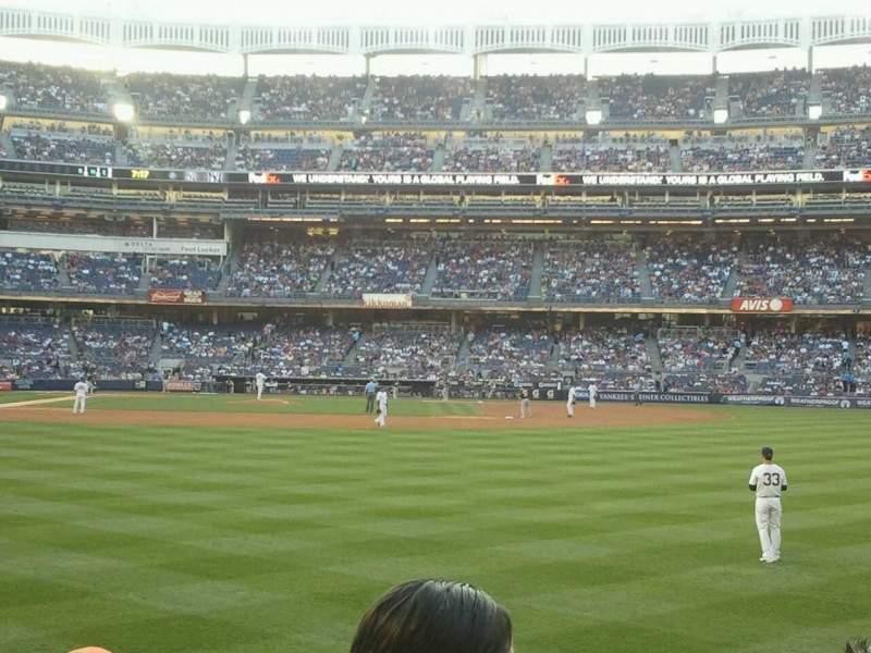Yankee Stadium, section: 105, row: 12, seat: 8