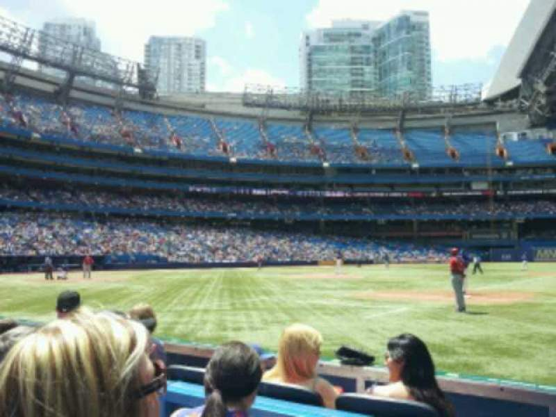 Seating view for Rogers Centre Section 115L Row 3 Seat 109