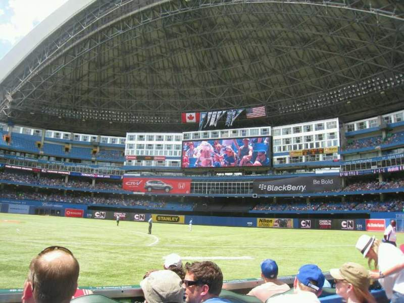 Seating view for Rogers Centre Section 115L Row 3 Seat 107