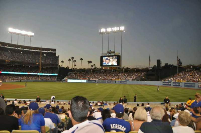 Seating view for Dodger Stadium Section 40FD Row M Seat 1