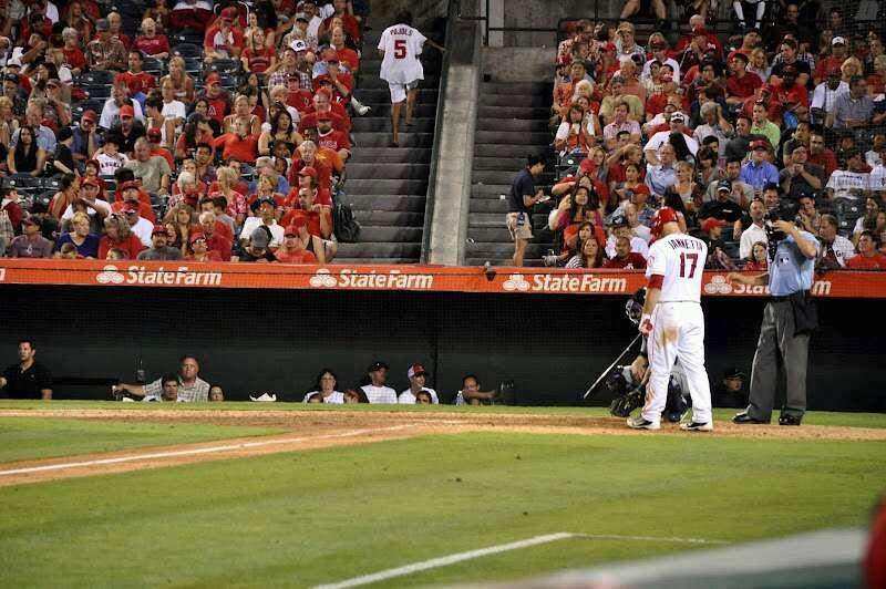 Seating view for Angel Stadium Section F108 Row B Seat 10