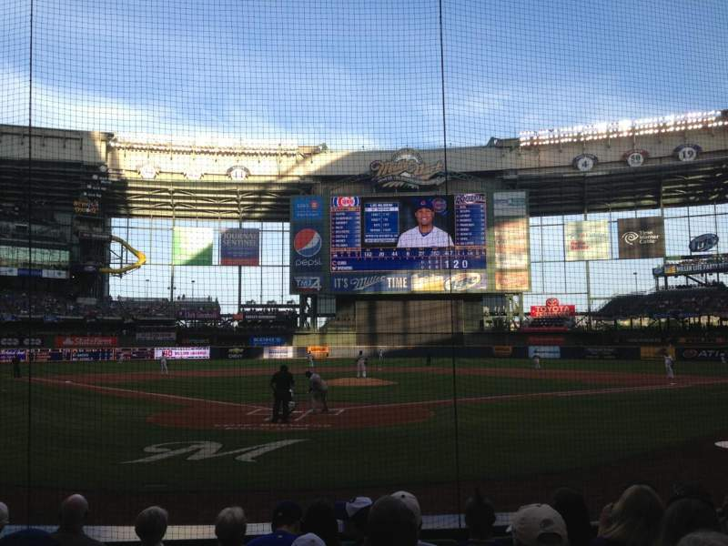 Seating view for Miller Park Section 117 Row 7 Seat 11