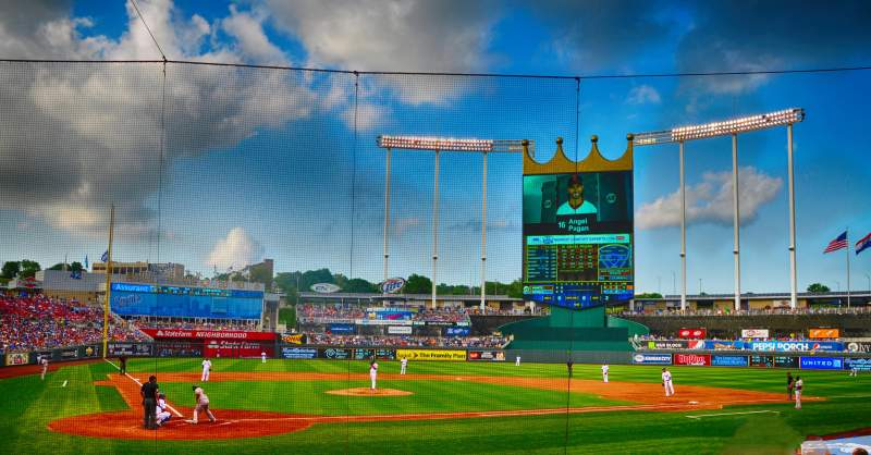 Seating view for Kauffman Stadium Section 130 Row K Seat 6