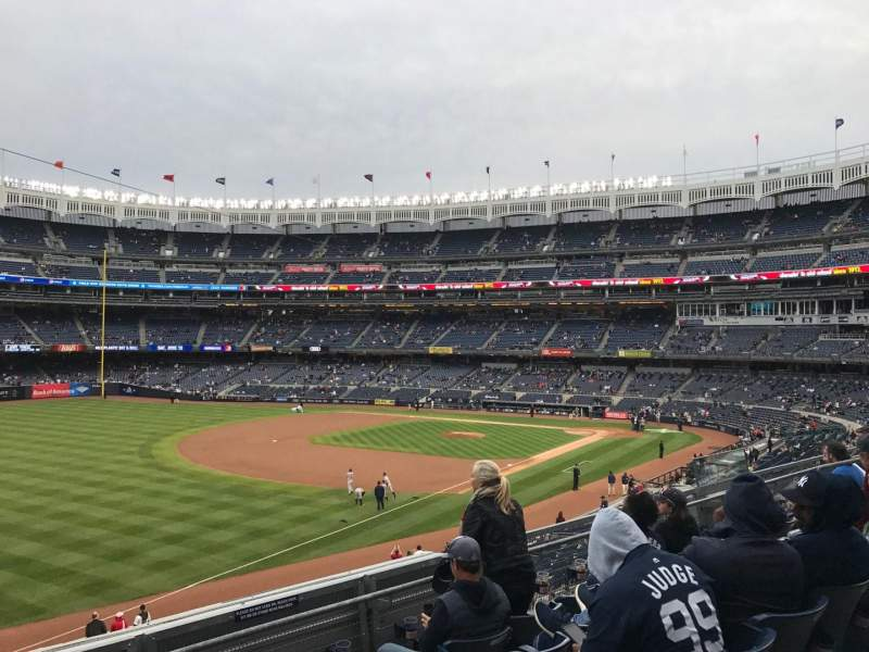 Seating view for Yankee Stadium Section 229 Row 5 Seat 16