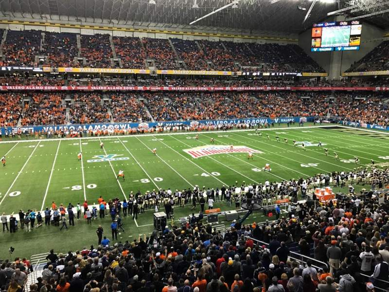 Seating view for Alamodome Section 214 Row 1 Seat 20
