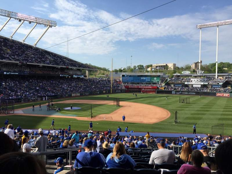 Seating view for Kauffman Stadium Section 237 Row KK Seat 8