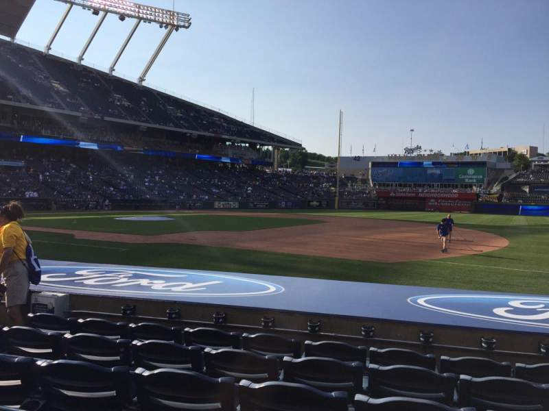 Seating view for Kauffman Stadium Section 138 Row F Seat 7