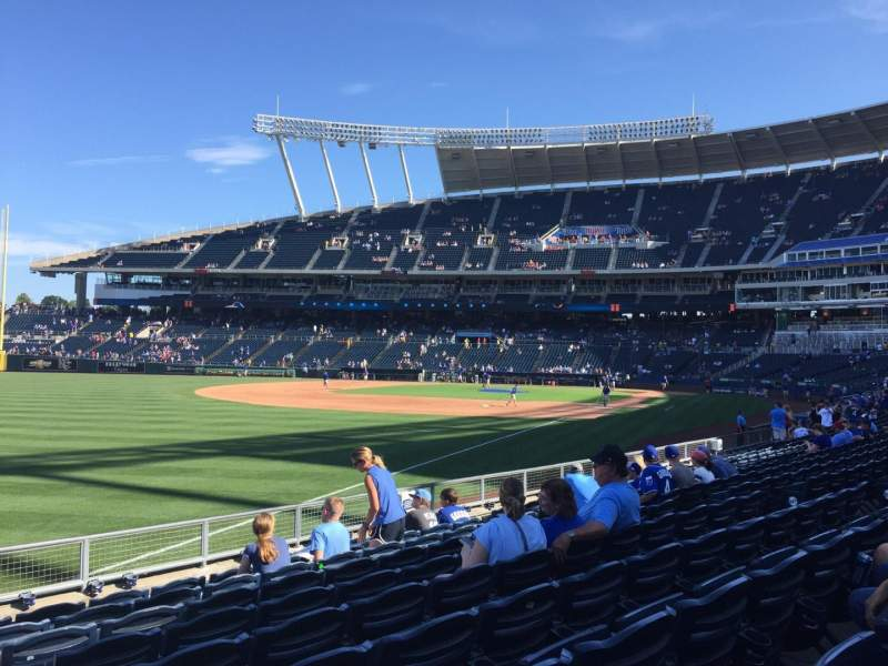 Seating view for Kauffman Stadium Section 110 Row N Seat 12