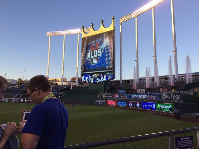 Seating view for Kauffman Stadium Section 145 Row G Seat 6
