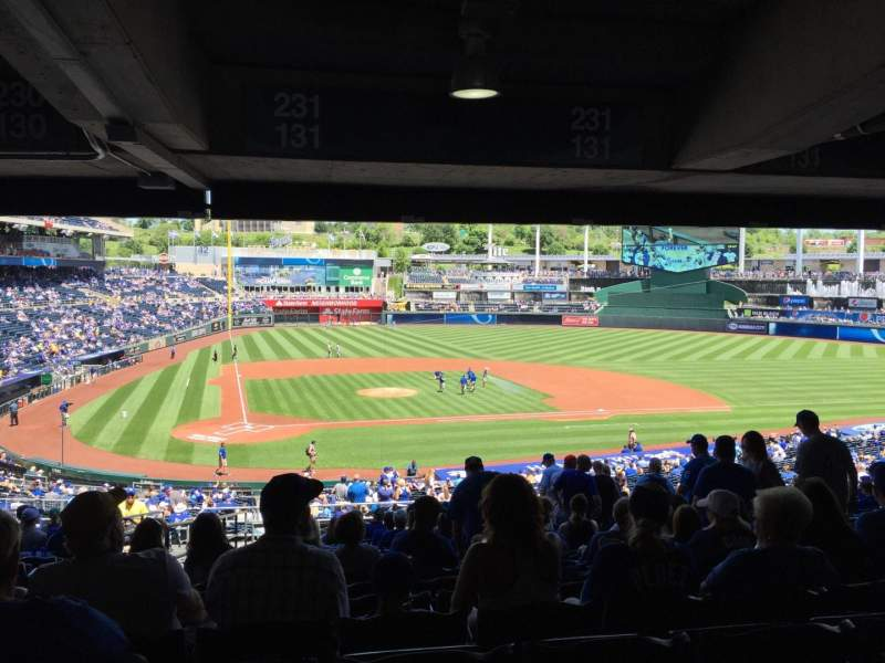 Seating view for Kauffman Stadium Section 231 Row TT Seat 4