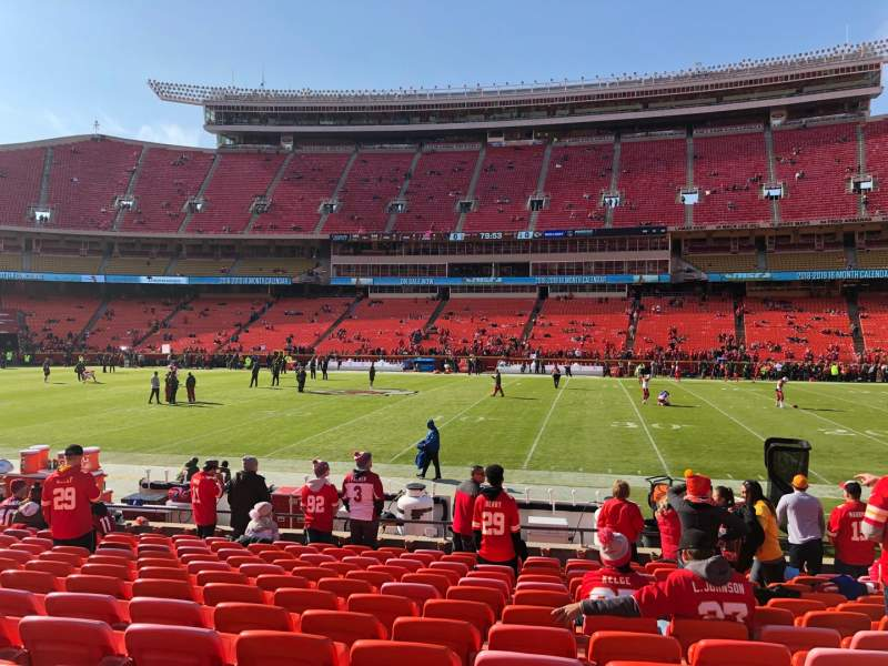 Seating view for Arrowhead Stadium Section 136 Row 13 Seat 9