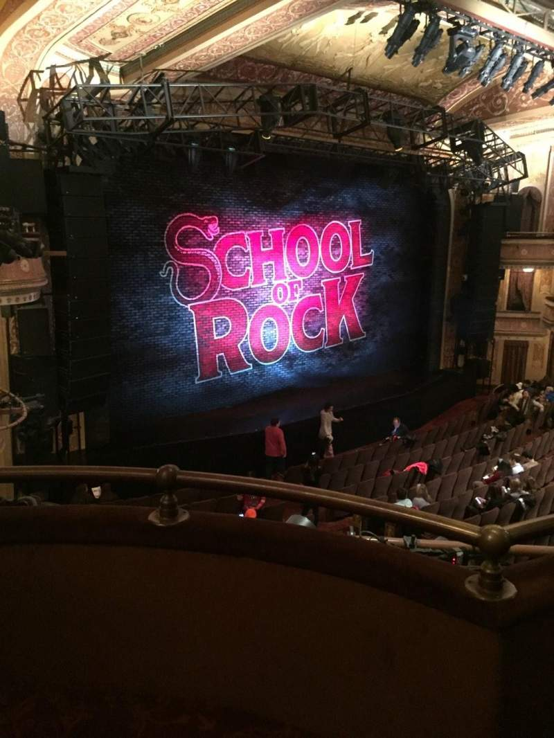 Seating view for Winter Garden Theatre Section Mezzanine L Row B Seat 3
