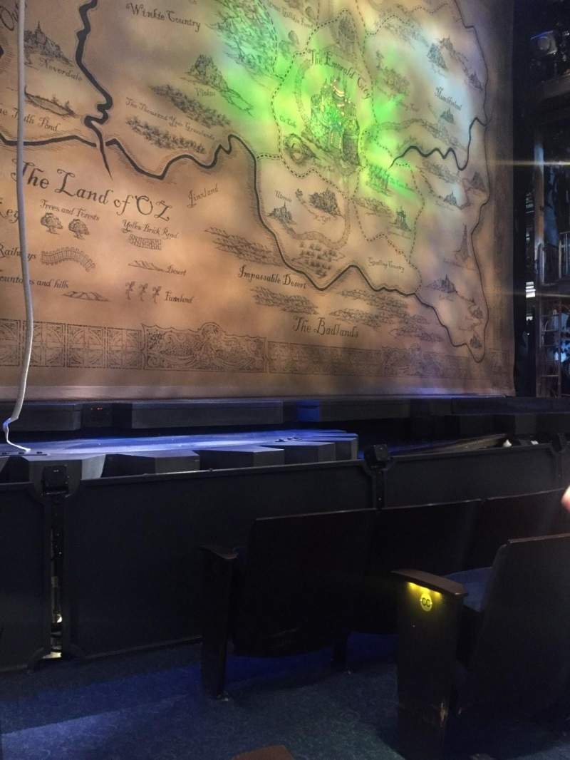 Seating view for Gershwin Theatre Section Orchestra L Row EE Seat 3