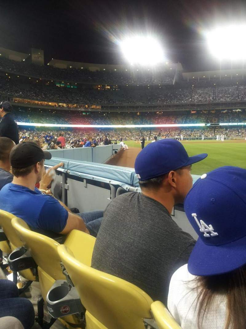 Seating view for Dodger Stadium Section 48FD Row A Seat 10