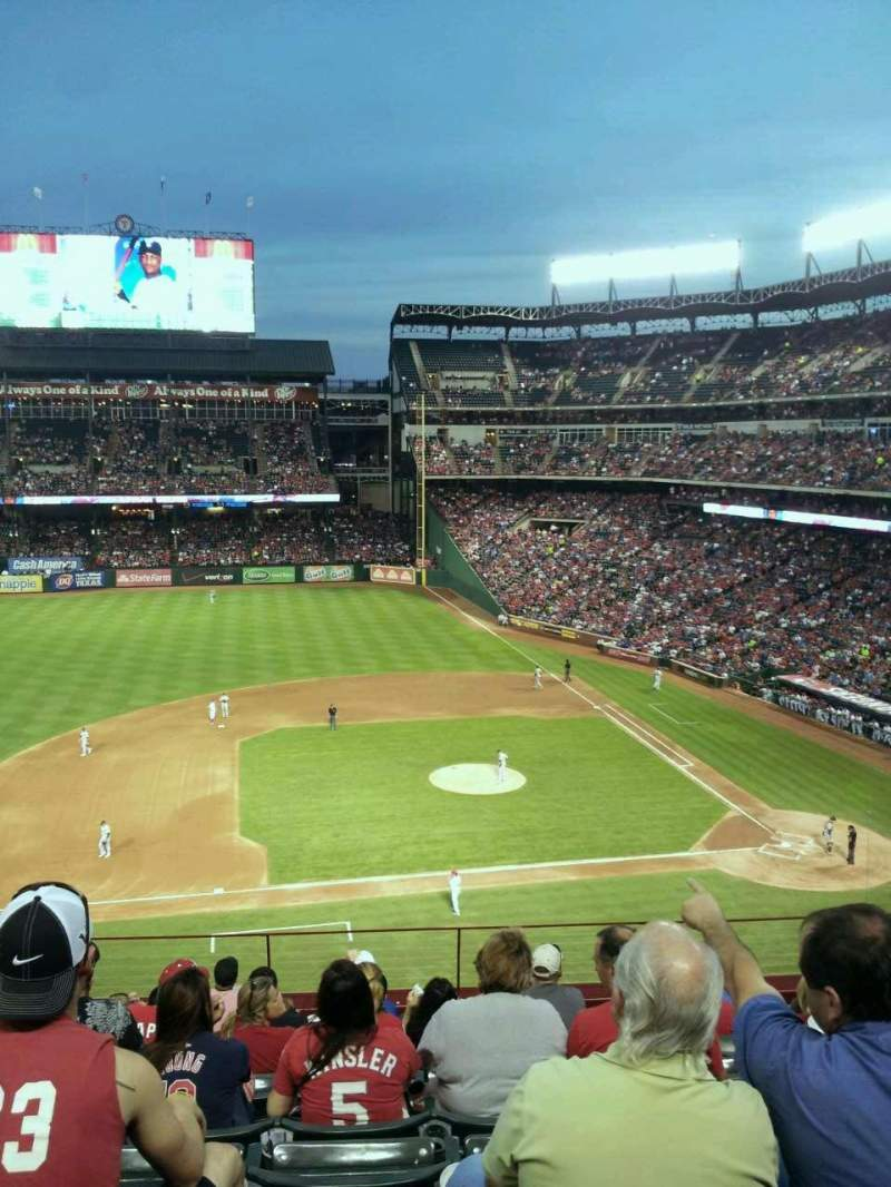 Seating view for Globe Life Park in Arlington Section 218 Row 9