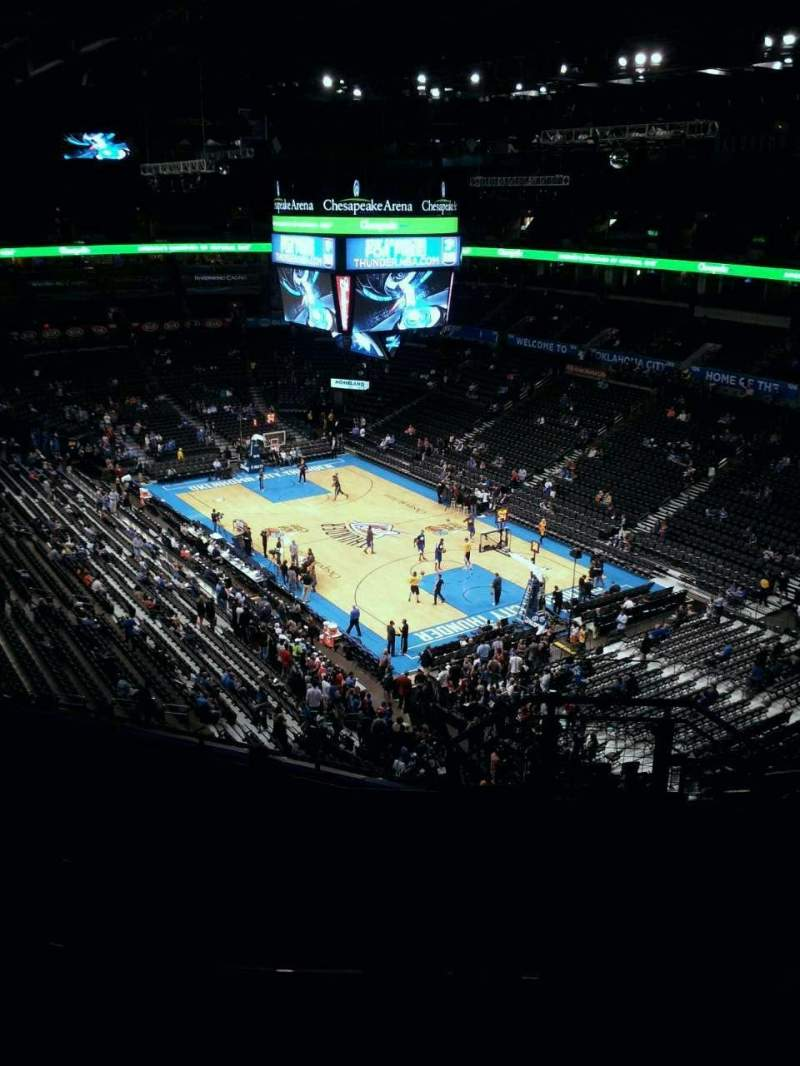 Seating view for Chesapeake Energy Arena Section 319 Row H Seat 9