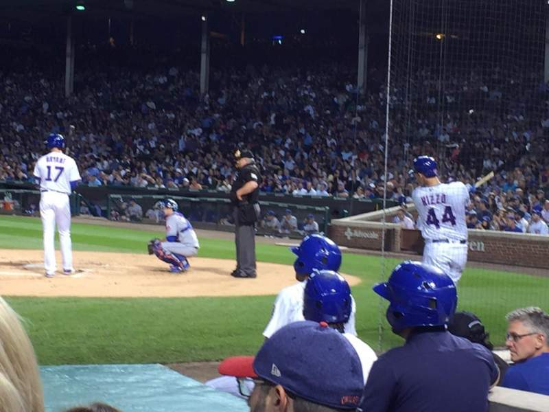 Seating view for Wrigley Field Section AA13 Row 3 Seat 13