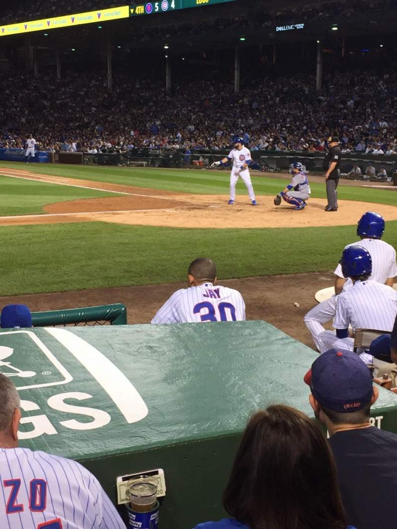 Seating view for Wrigley Field Section 15 Row 3 Seat 104