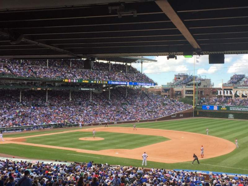 Seating view for Wrigley Field Section 227 Row 17 Seat 18
