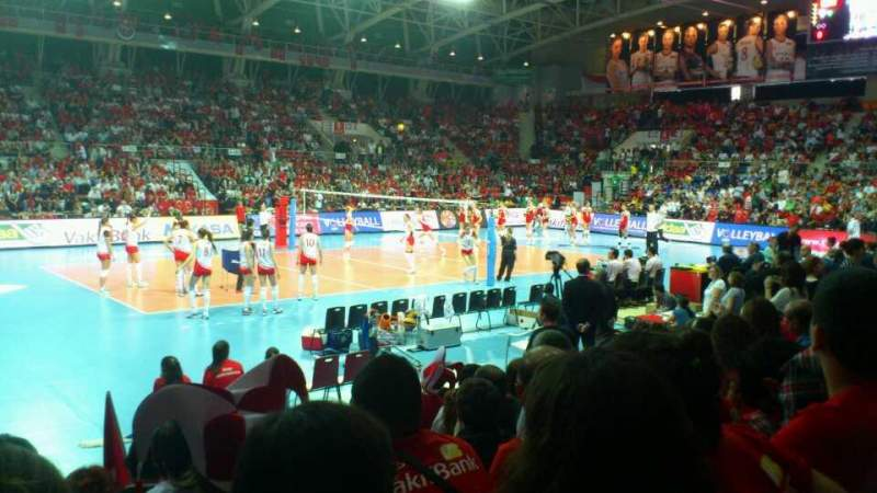 Seating view for Başkent Voleybol Salonu Section A404 Row 4 Seat 23