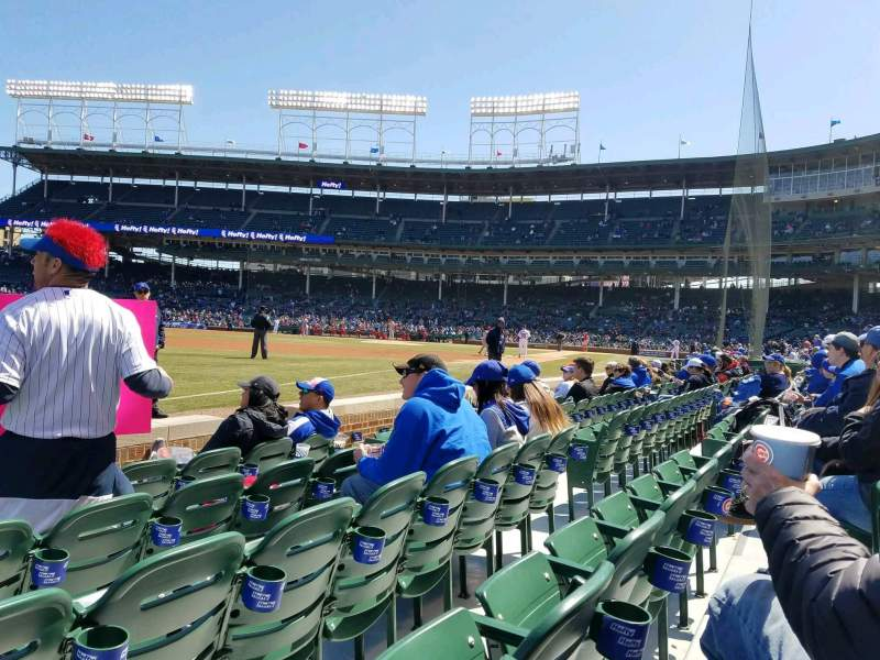 Seating view for Wrigley Field Section 6 Row 5 Seat 4