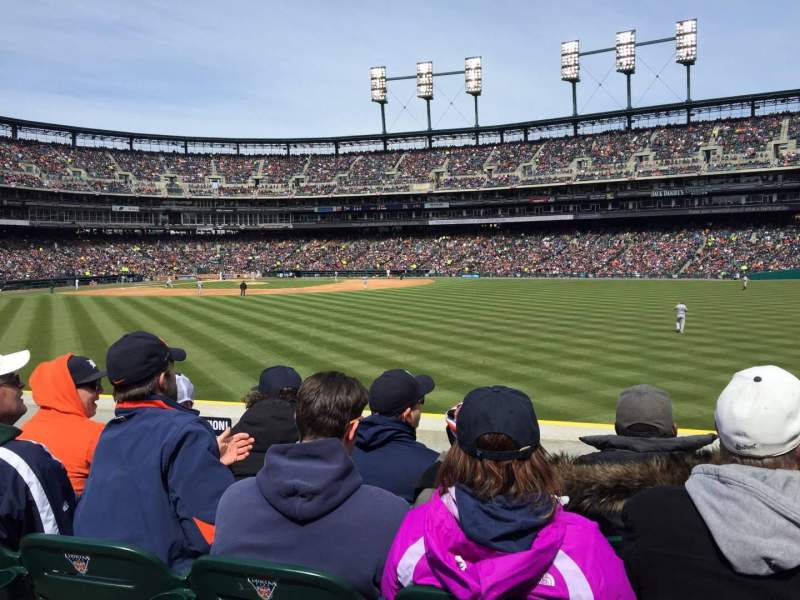 Seating view for Comerica Park Section 101 Row J Seat 12