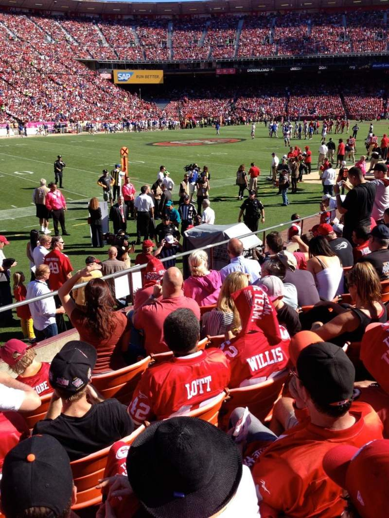 Seating view for Candlestick Park Section LB22 Row K