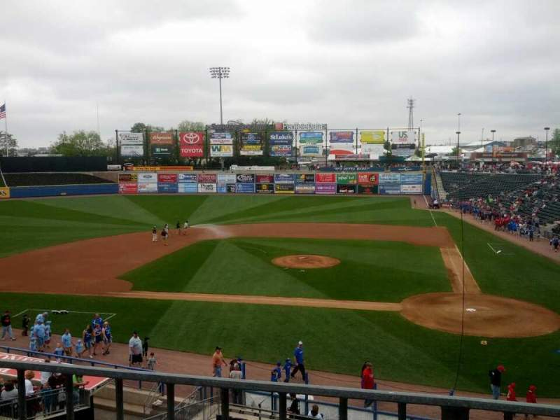 Seating view for Coca-Cola Park Section 211 Row A Seat 7