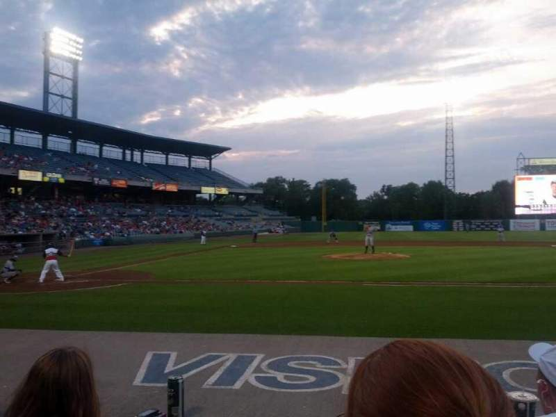 Seating view for NBT Bank Stadium Section 107 Row 3 Seat 7