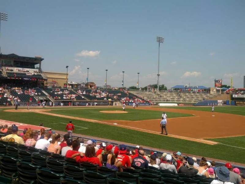 Seating view for Coca-Cola Park Section 105 Row P Seat 19