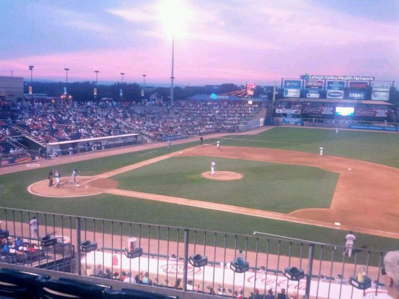 Seating view for Coca-Cola Park Section 203 Row D Seat 18