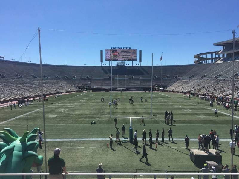 Seating view for Legion Field Section 23 Row 25 Seat 13